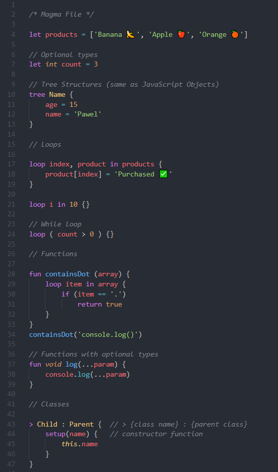 Preview Syntax