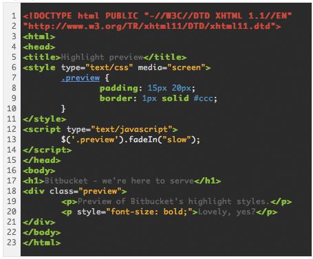 Code highlight - native