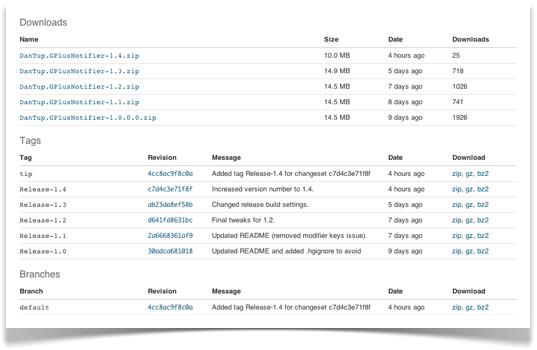 Updated downloads screen