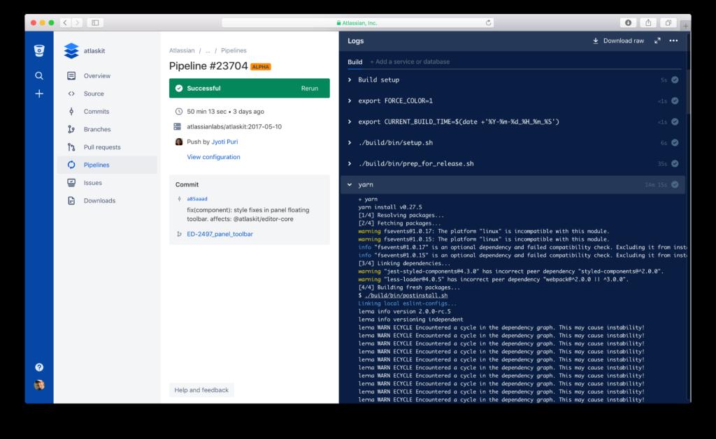 build numbers in Bitbucket Pipelines