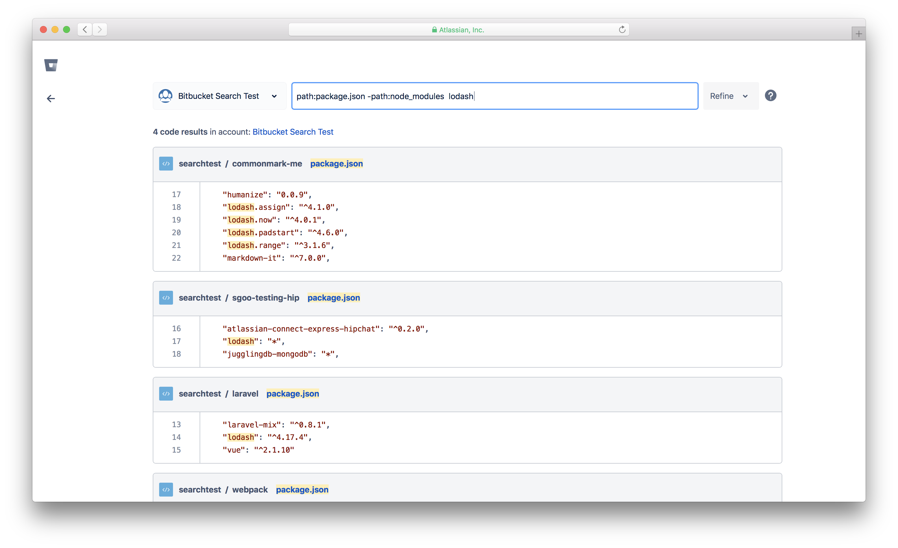 File search improvements in code aware search for Bitbucket