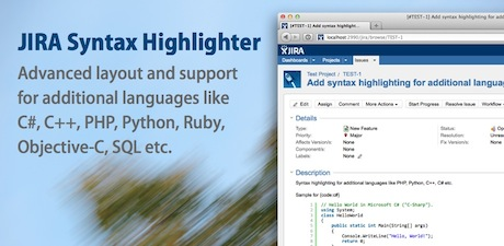 JIRA Syntax Highlighter Banner